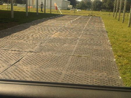 Event Trackway And Temporary Ground Cover News